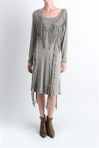 DIAMOND FRINGE DRESS - orangeshine.com