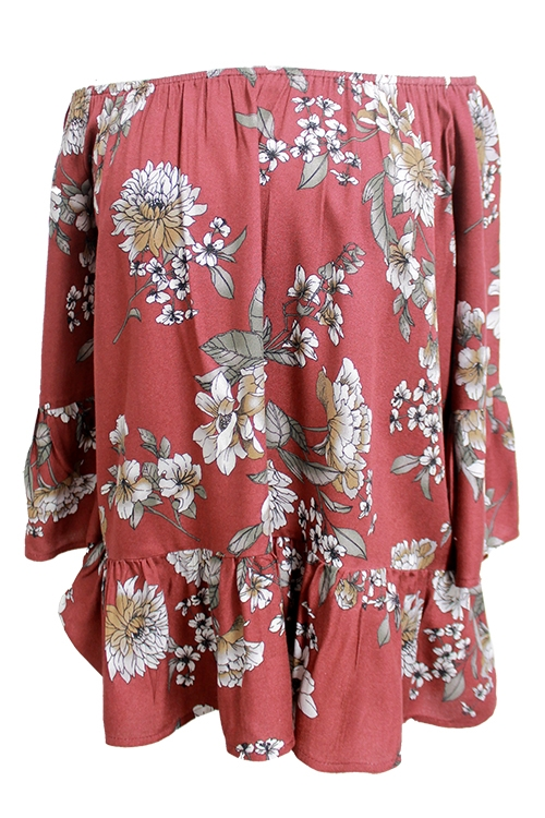 Floral Off the Shoulder Top - orangeshine.com