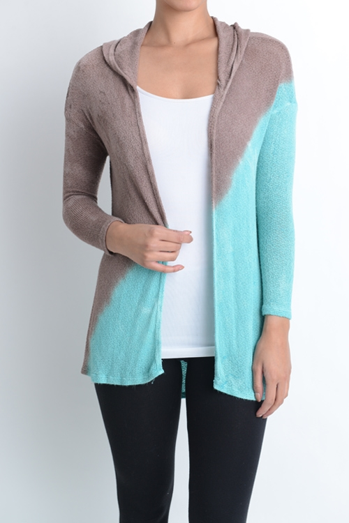 DUAL COLOR SHORT CARDIGAN - orangeshine.com