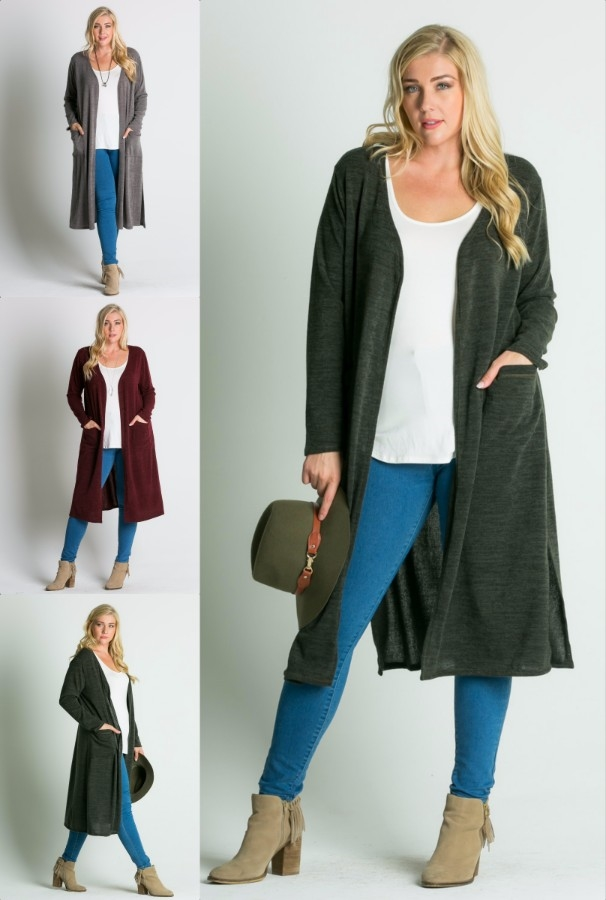 plus cardigan - orangeshine.com