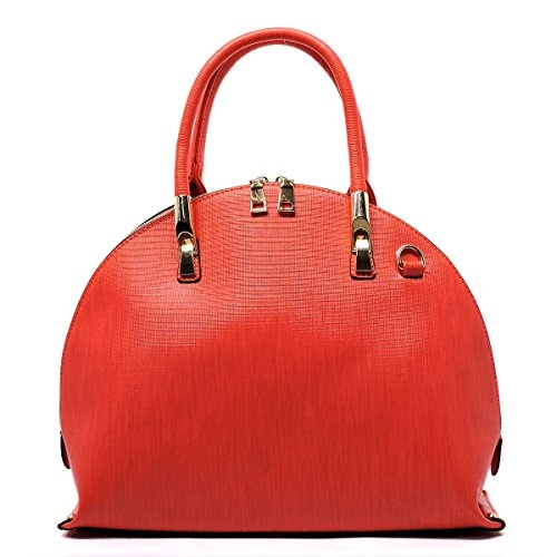 Vegan Leather Dome Satchel - orangeshine.com