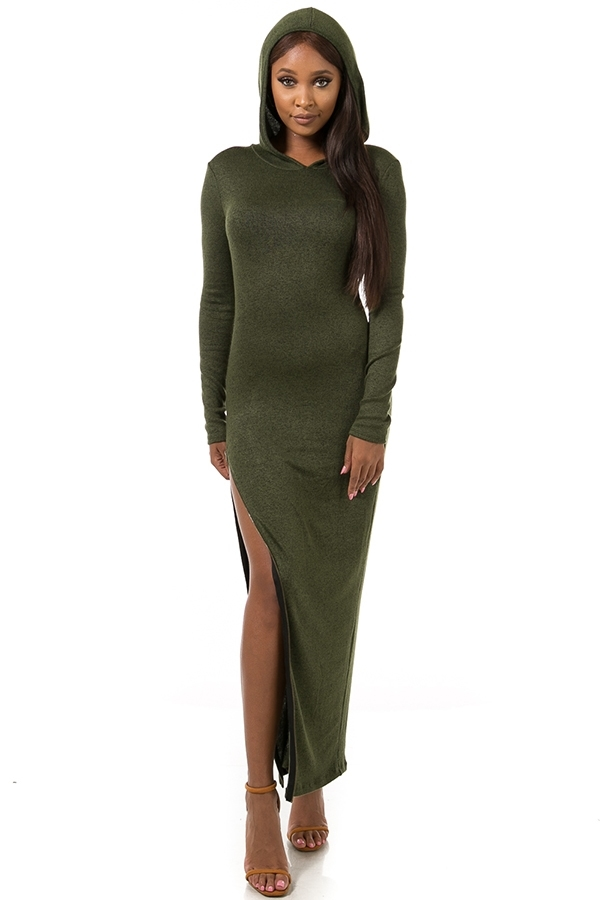 Hoodie maxi dress - orangeshine.com