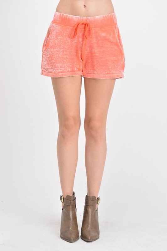 BURNOUT TRI BLEND FLEECE SHORT - orangeshine.com