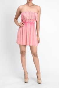 FRINGE MINI DRESS - orangeshine.com