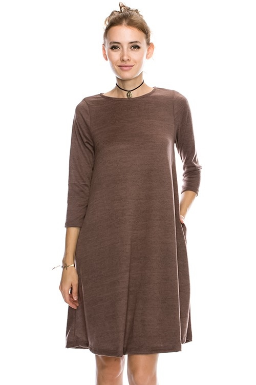 2TONE BRUSHED HACHI DRESS - orangeshine.com
