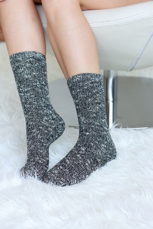 MELANGE WOOL LIKE SOCKS - orangeshine.com