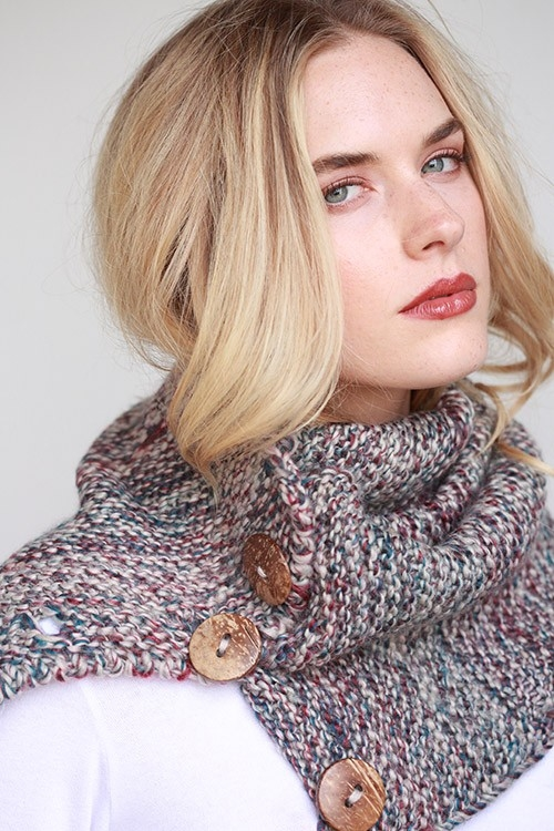 MULTI COLOR X KNITTED SCARF - orangeshine.com