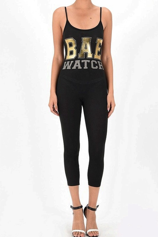 BAE GOLD FOIL TANK JUMPSUIT TO - orangeshine.com