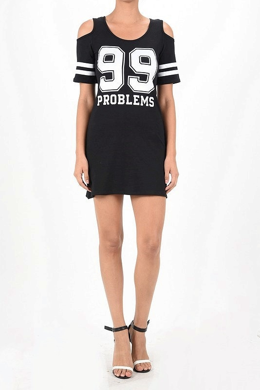 99 PROBLEM JERSEY DRESS COLD - orangeshine.com