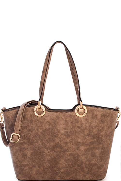 Trendy Chic Satchel with Bag - orangeshine.com