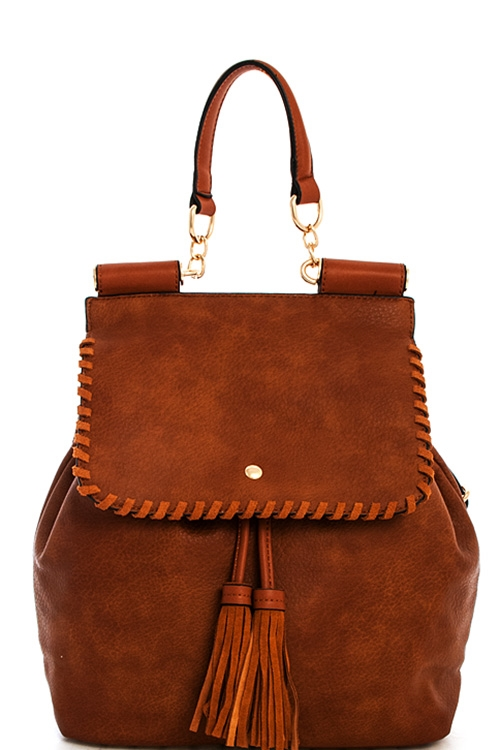 Fashion Tassel Chic Backpack - orangeshine.com
