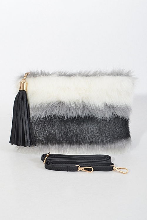 Faux Fur Inspired Clutch - orangeshine.com
