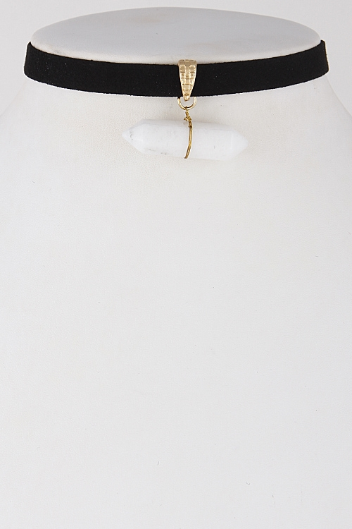 Simple Stone Choker Necklace - orangeshine.com
