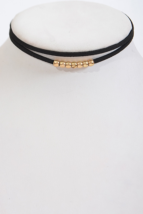 Double Layered Thin Choker - orangeshine.com