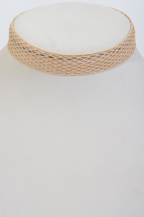 Criss Cross Patterned Choker - orangeshine.com