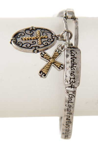 SERENITY PRAYER CROSS BRACELET - orangeshine.com