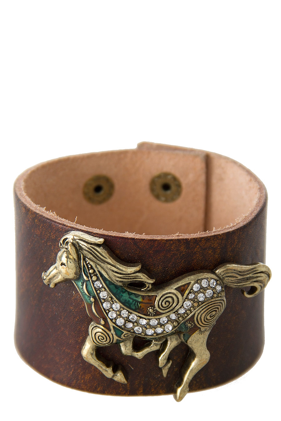 HORSE LEATHER BRACELET - orangeshine.com