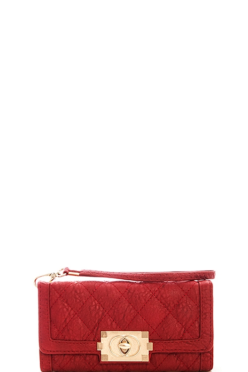 Fashion Quilted Long Wallet - orangeshine.com