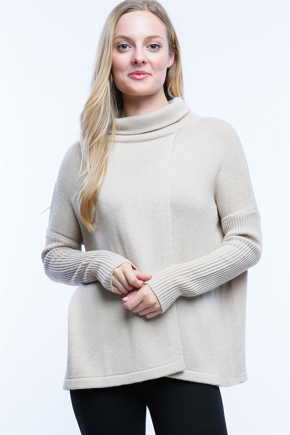 SPLIT FRONT AND BACK SWEATER - orangeshine.com