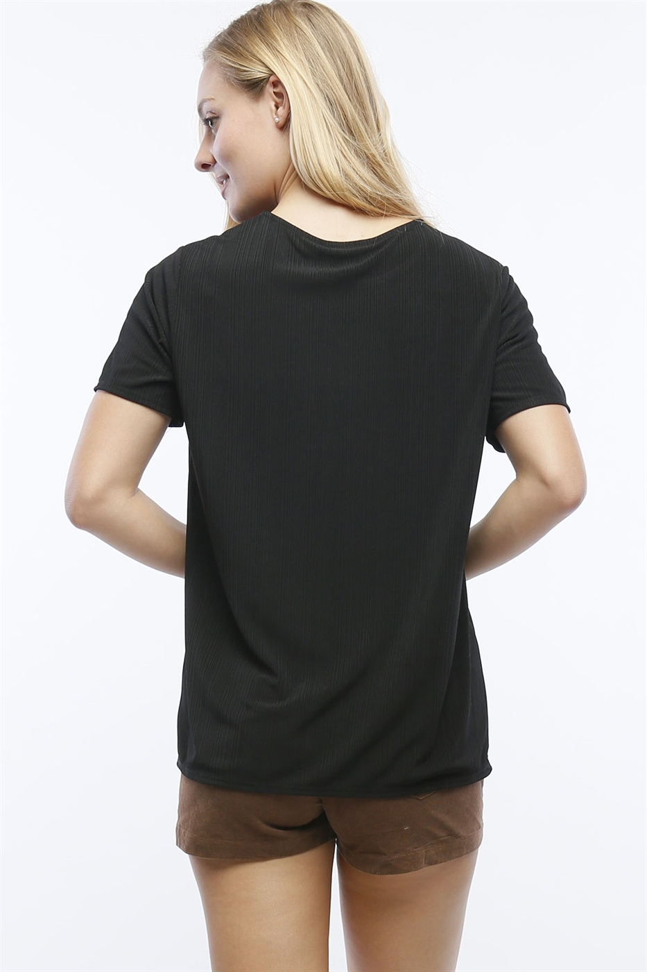 RIBBED SHORT SLEEVE TEE - orangeshine.com