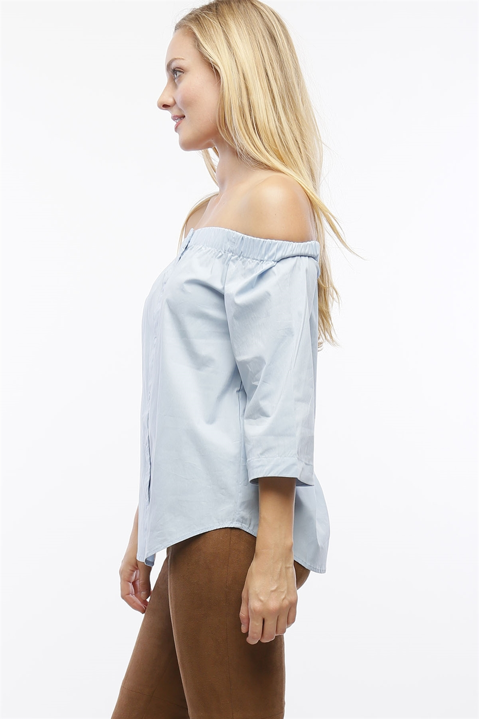 OFF THE SHOULDER POPLIN TOP - orangeshine.com