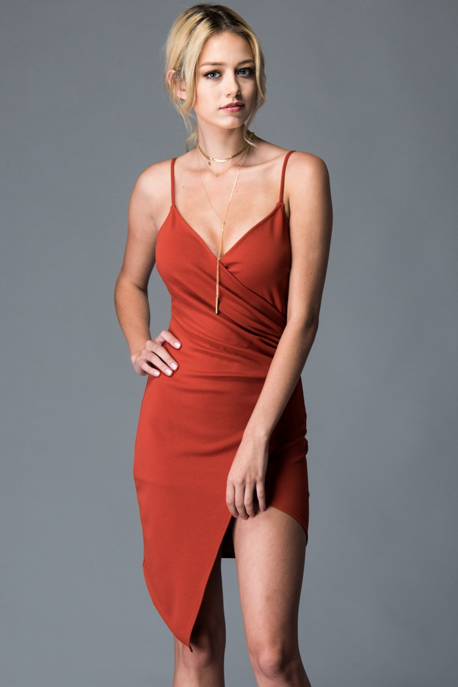 CROSSOVER FRONT DRESS - orangeshine.com