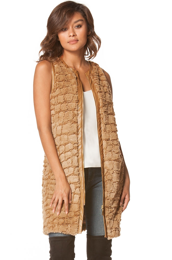 Long fur vest - orangeshine.com