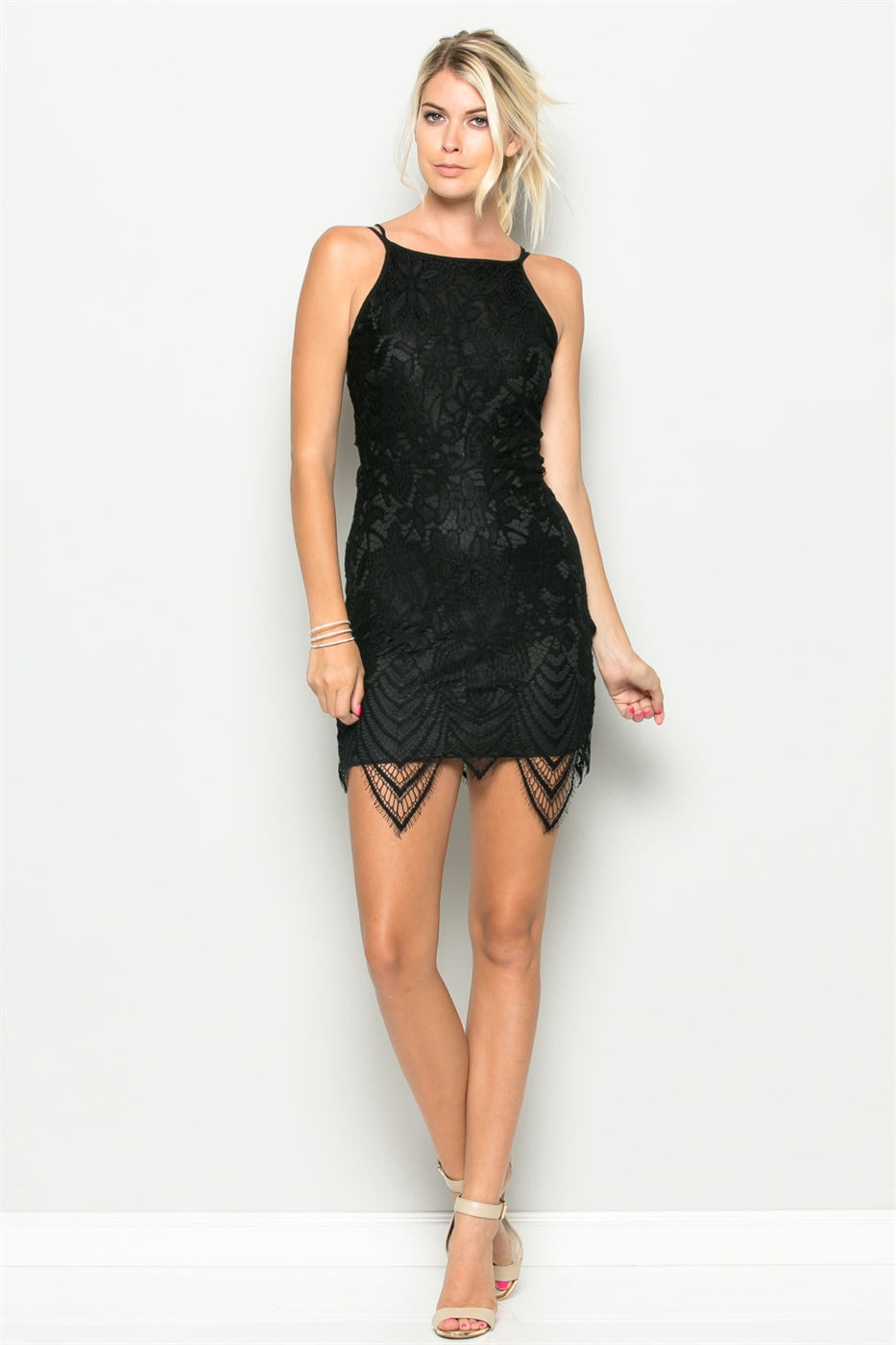 TIE BACK LACE DRESS - orangeshine.com