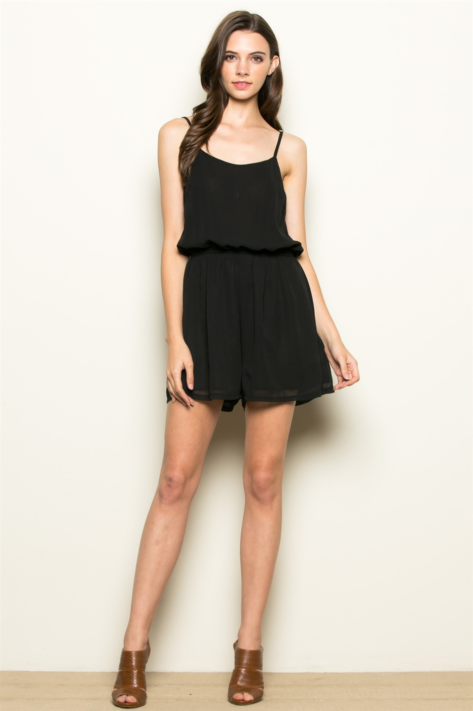 OPEN CROSS BACK ROMPER - orangeshine.com
