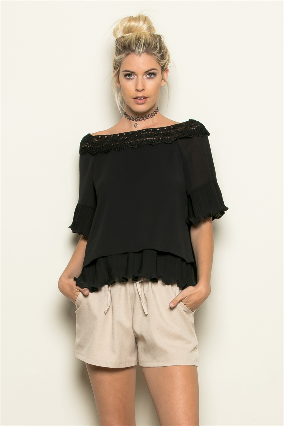 OFF SHOULDER BOTTOM FLARE TOP - orangeshine.com