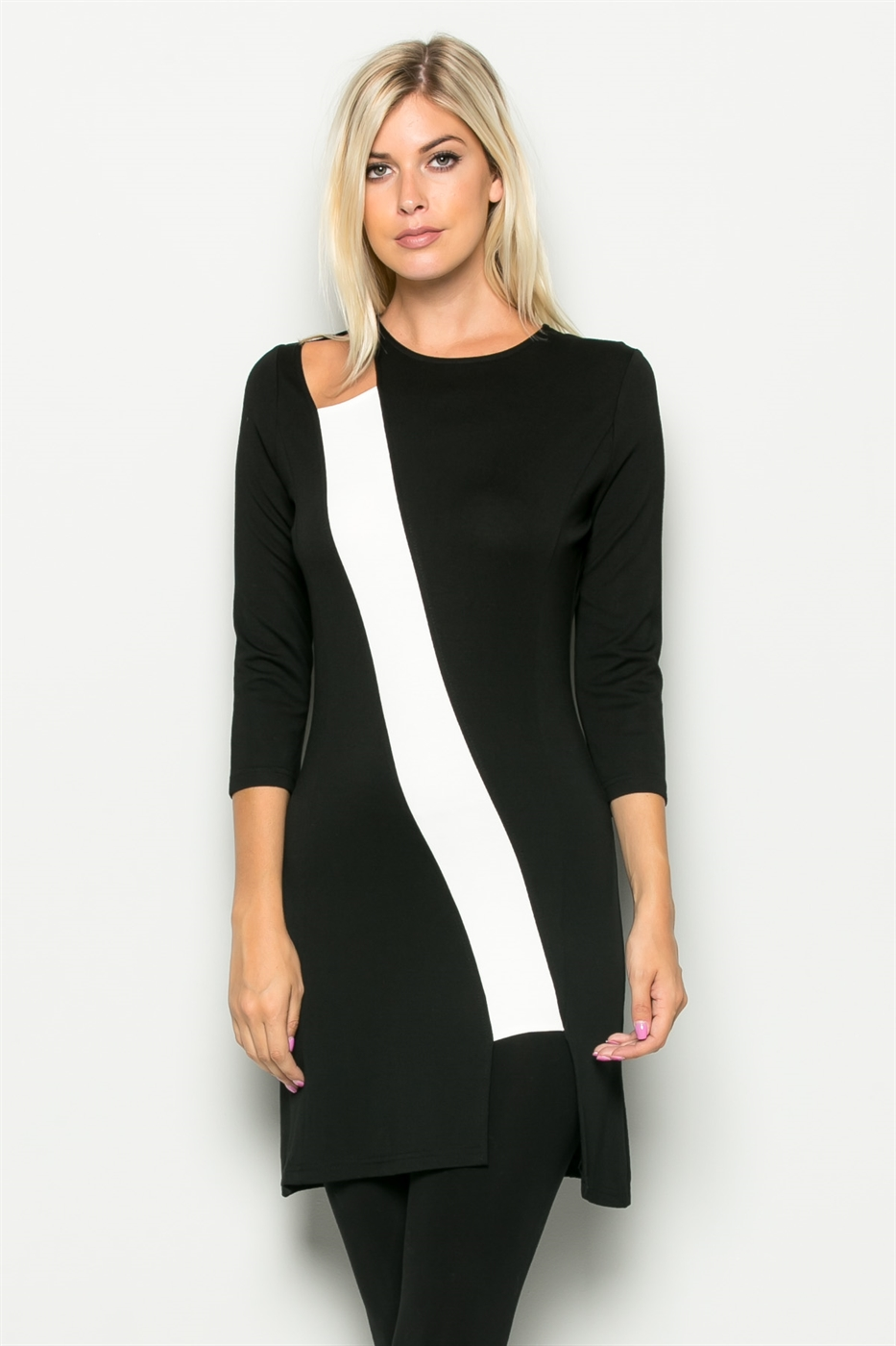 RELAY STRIP HIGH CUT TUNIC - orangeshine.com