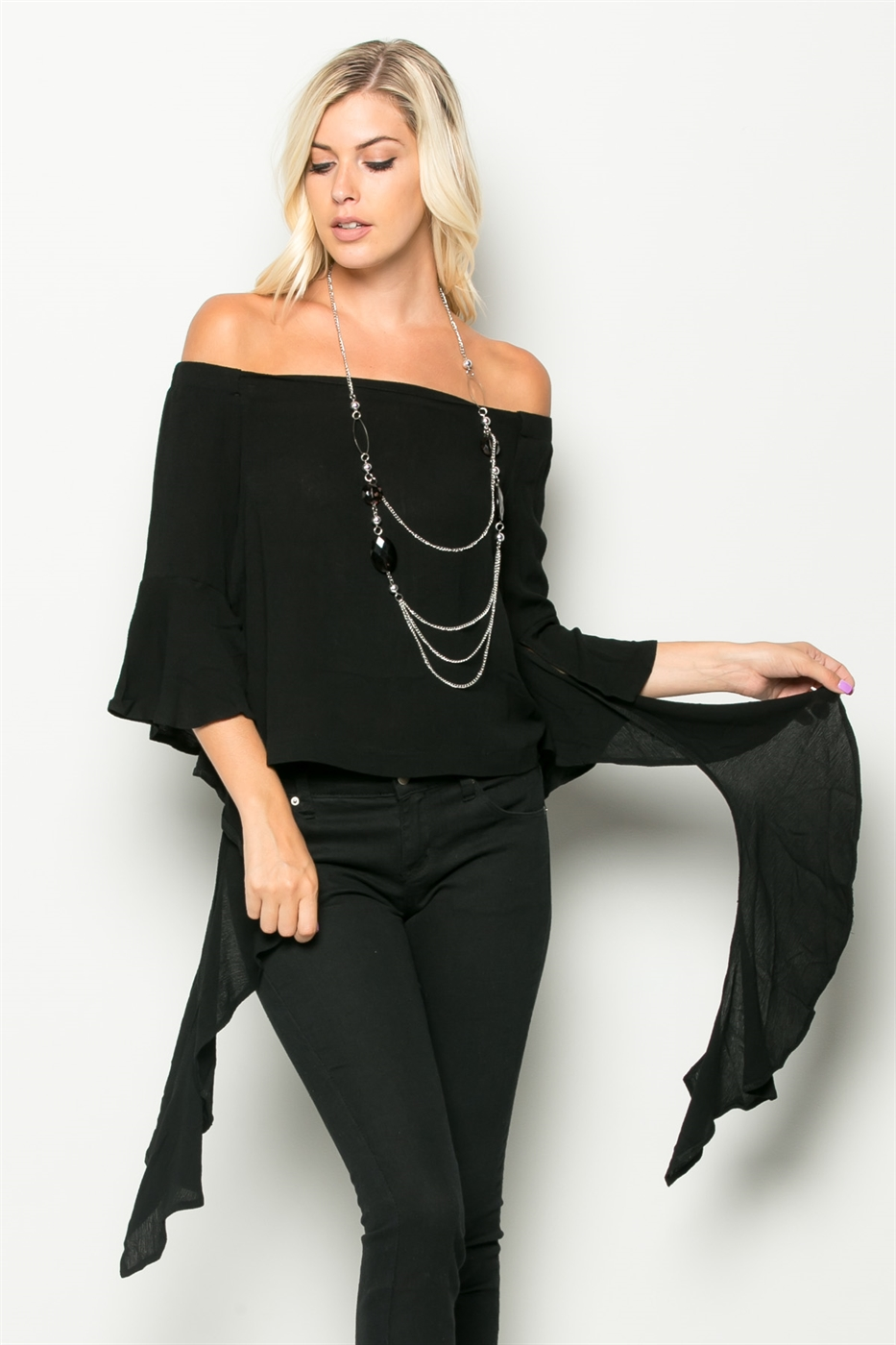 JADE OFF THE SHOULDER WING SLV - orangeshine.com