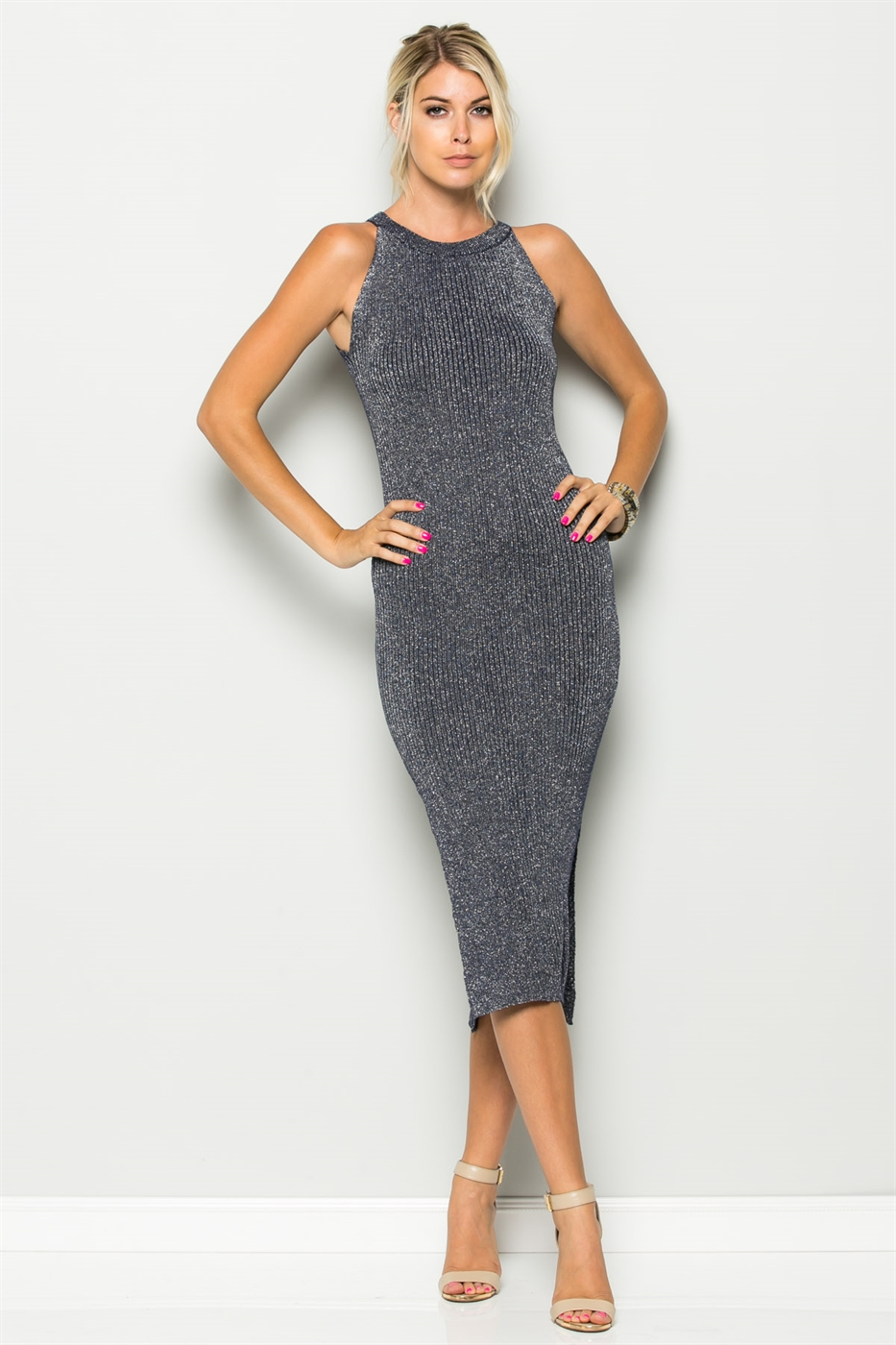 GLITTER KNIT DRESS - orangeshine.com