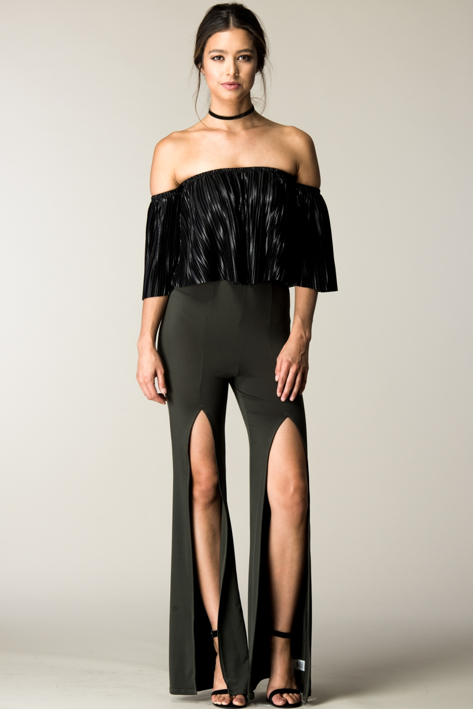 FRONT SLIT DETAIL PANTS - orangeshine.com