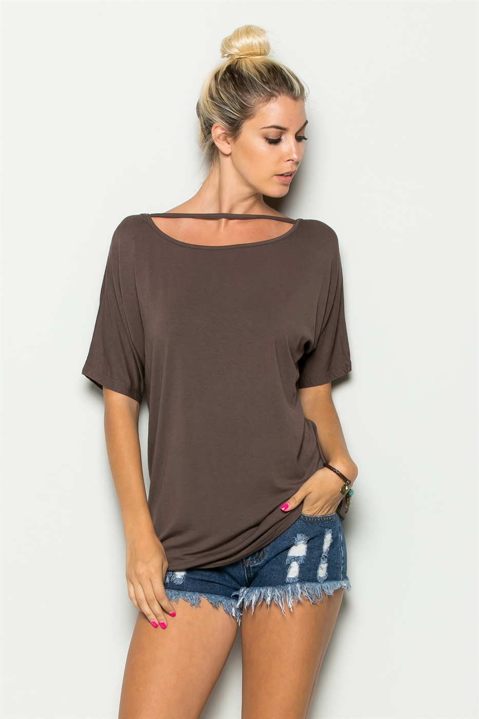 NECK LINE STRING TUNIC - orangeshine.com