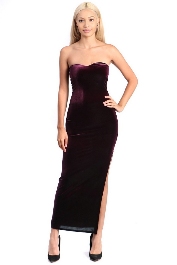 velvet maxi dress - orangeshine.com