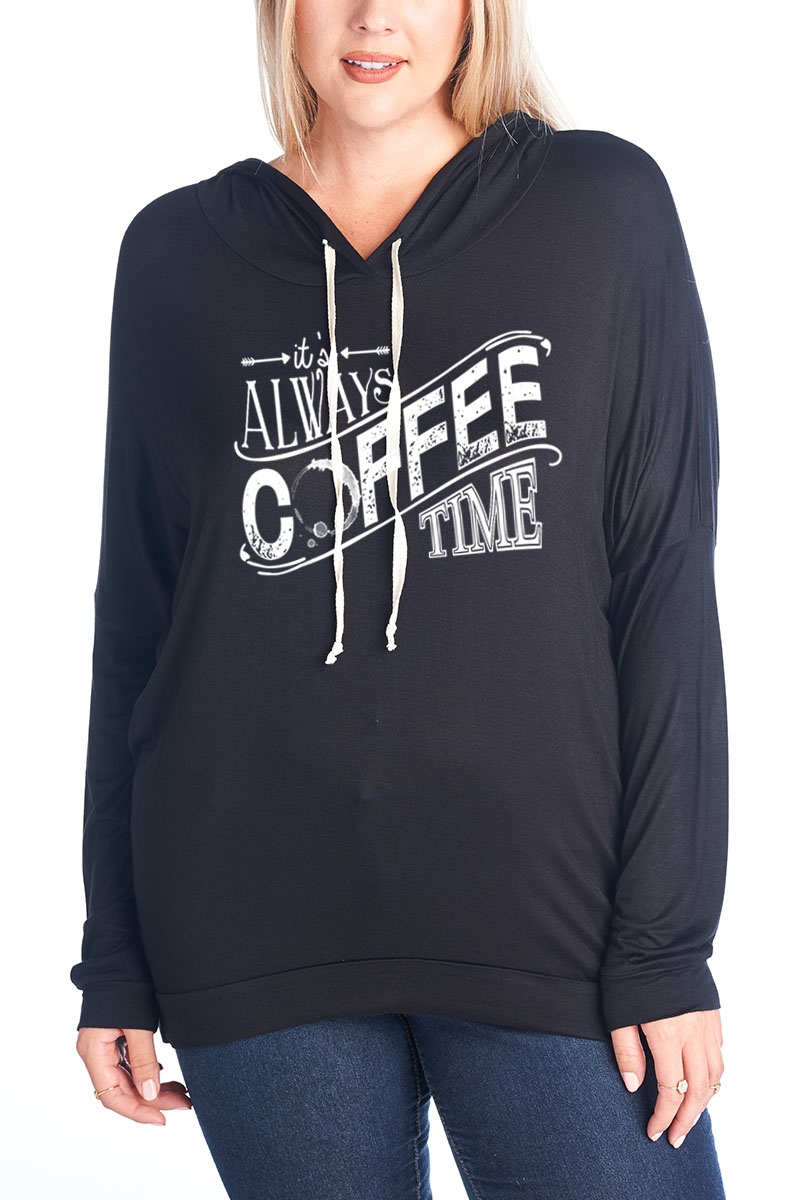 Coffee Long Sleeve Hoodie - orangeshine.com