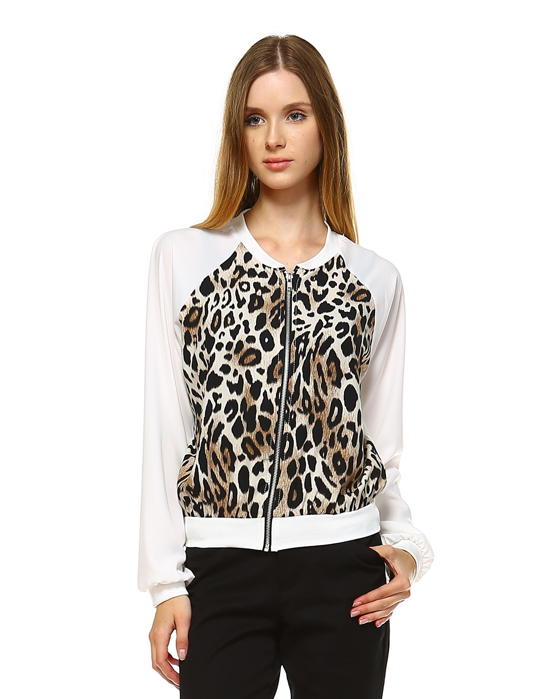 animal print jacket - orangeshine.com