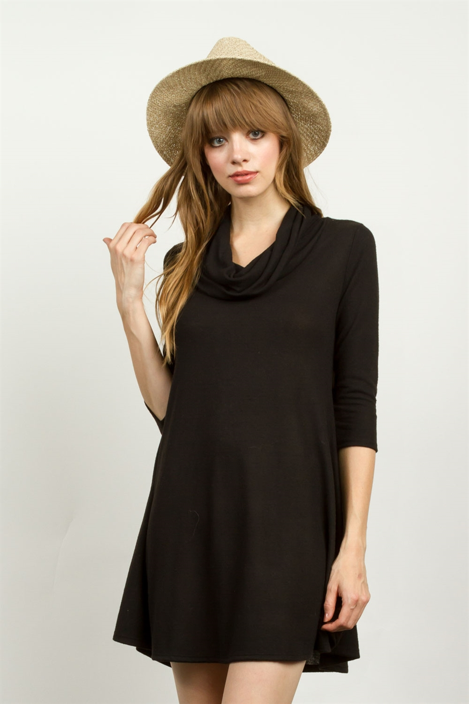 COWL NECKLINE DRESS - orangeshine.com