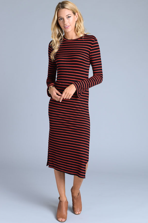 Stripe Mini Dress - orangeshine.com