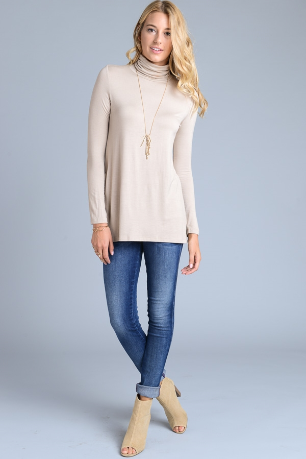 Turtle Neck Tunic - orangeshine.com