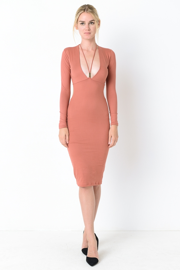BRUSH MIDI DRESS - orangeshine.com