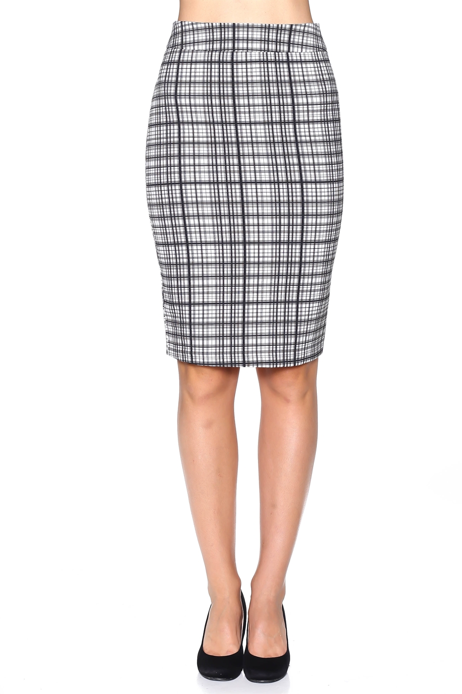 Plaid Suiting Skirt - orangeshine.com