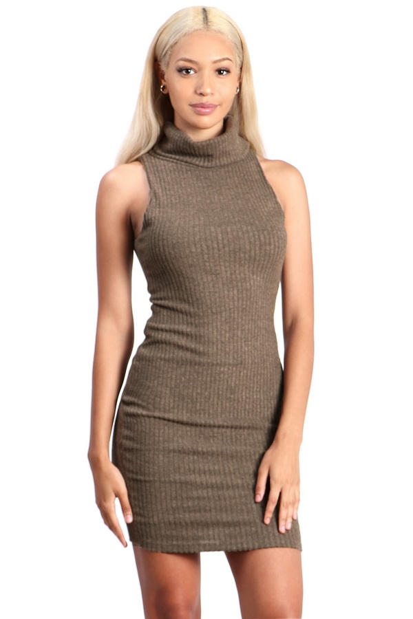 knitted midi bodycon dress - orangeshine.com