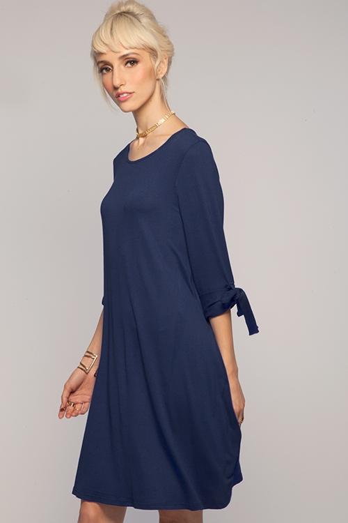 SLEEVE TIE DRESS - orangeshine.com