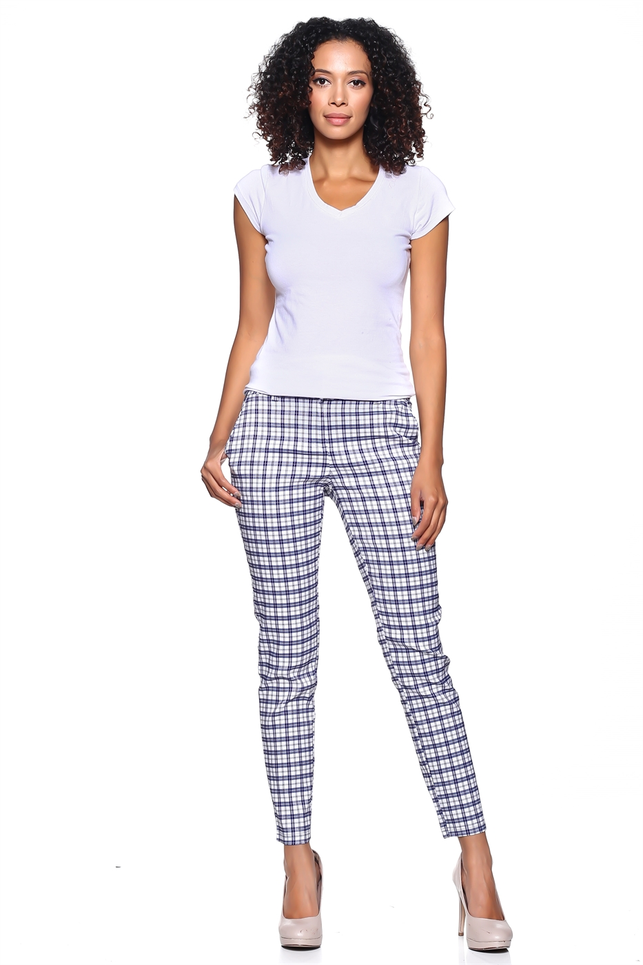 Plaid Crop Pants - orangeshine.com