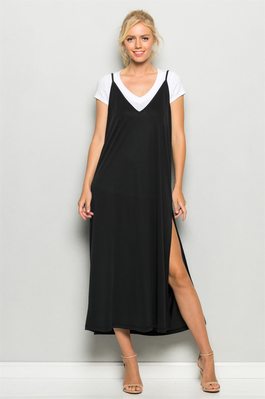 Cupro Camisole Maxi Dress - orangeshine.com