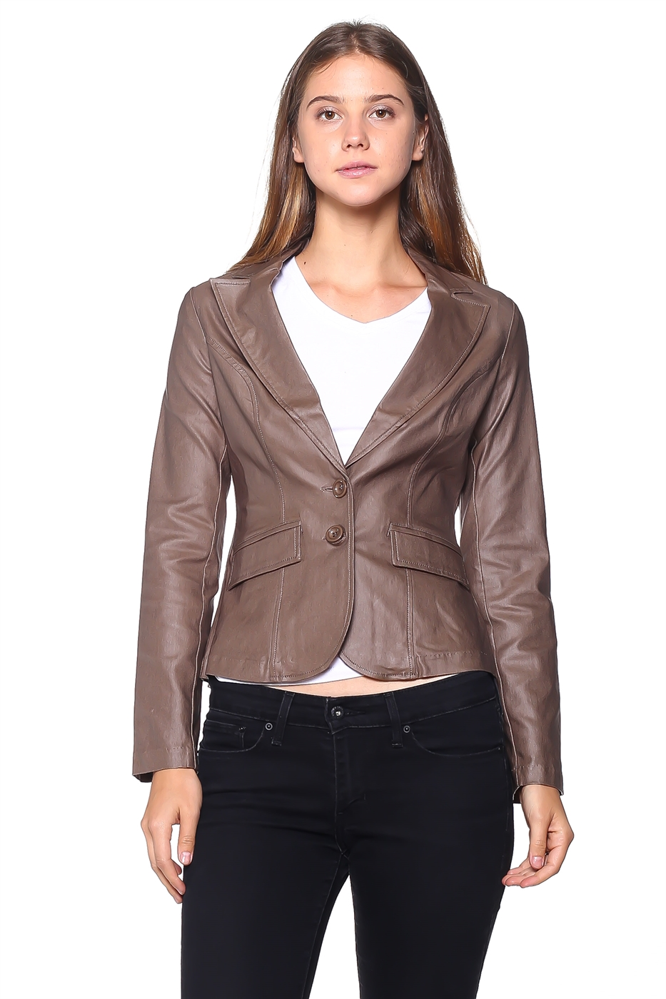 PU coated blazer top - orangeshine.com