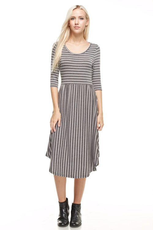 STRIPED DRESS POCKET - orangeshine.com