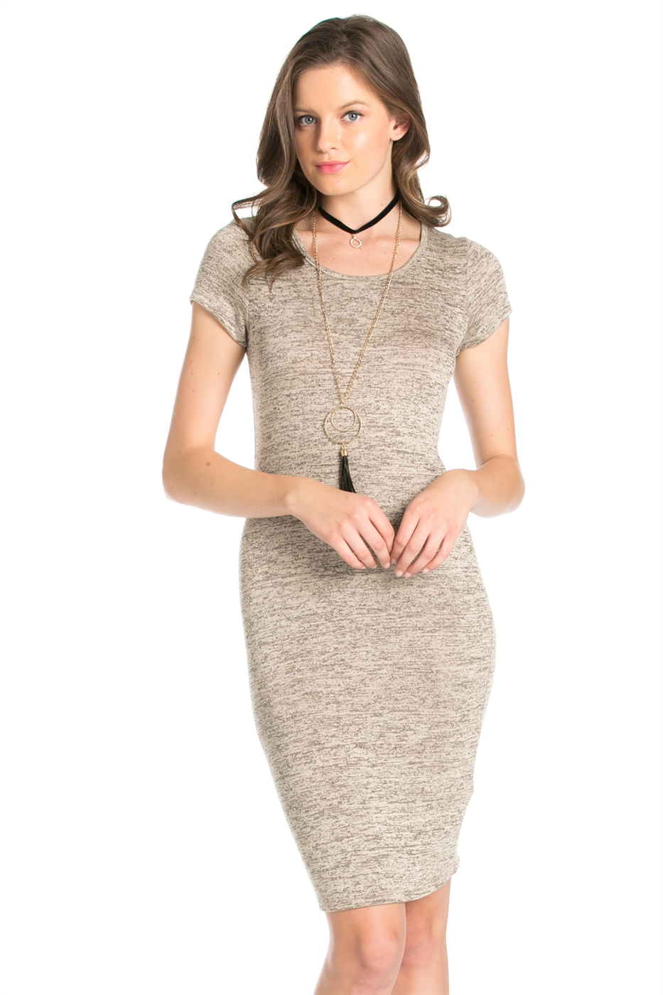HACCI LONG SLEEVE DRESS - orangeshine.com